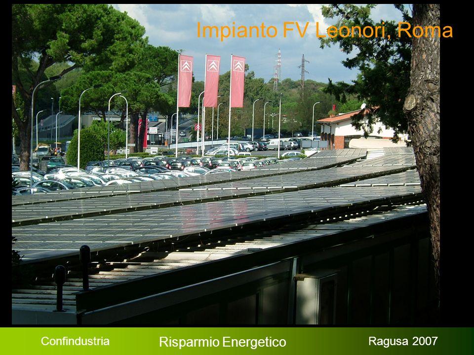 Confindustria Risparmio Energetico Ragusa 2007 Impianto FV Leonori, Roma