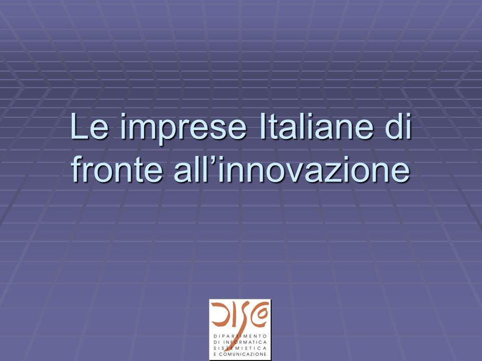 Le imprese Italiane di fronte allinnovazione