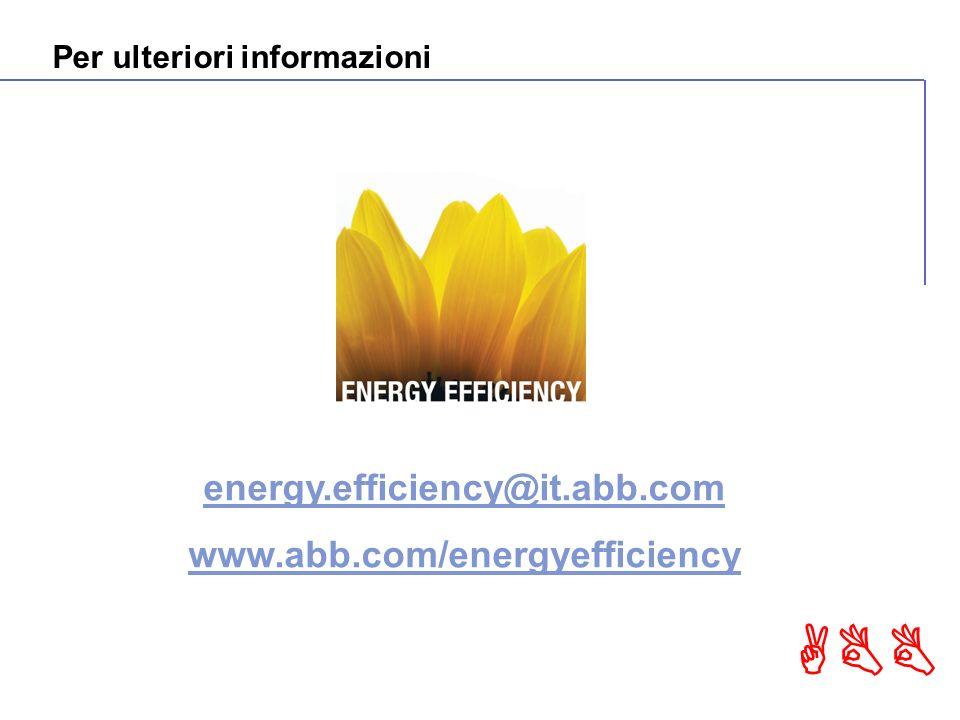 ABB energy.efficiency@it.abb.com www.abb.com/energyefficiency Per ulteriori informazioni
