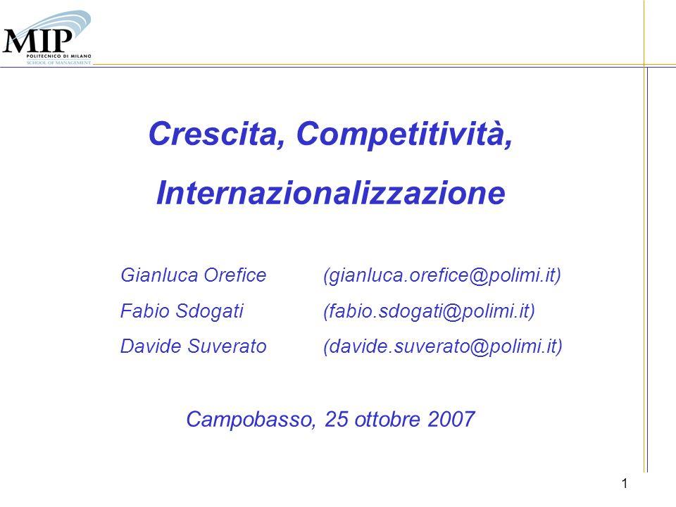 2 Indice 1.Nuovi modelli di internazionalizzazione dimpresa 2.