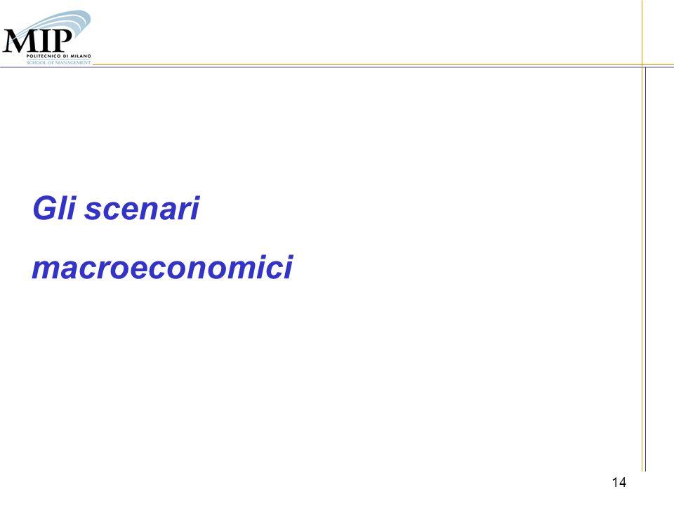 14 Gli scenari macroeconomici