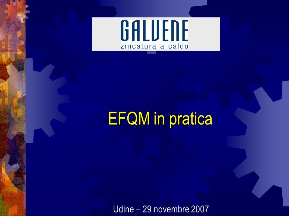 EFQM in pratica Udine – 29 novembre 2007