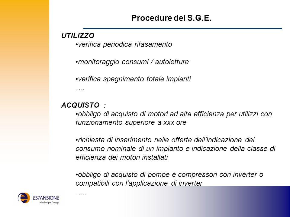 Procedure del S.G.E.