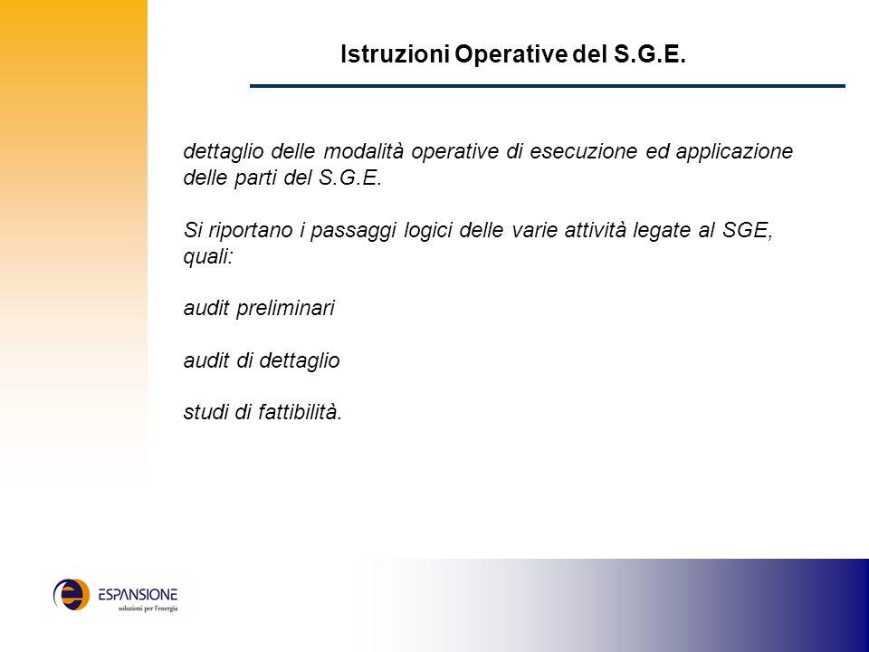 Istruzioni Operative del S.G.E.
