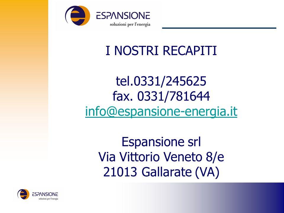 I NOSTRI RECAPITI tel.0331/245625 fax.