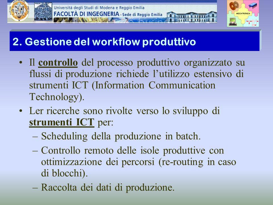 2. Gestione del workflow produttivo Il controllo del processo produttivo organizzato su flussi di produzione richiede lutilizzo estensivo di strumenti