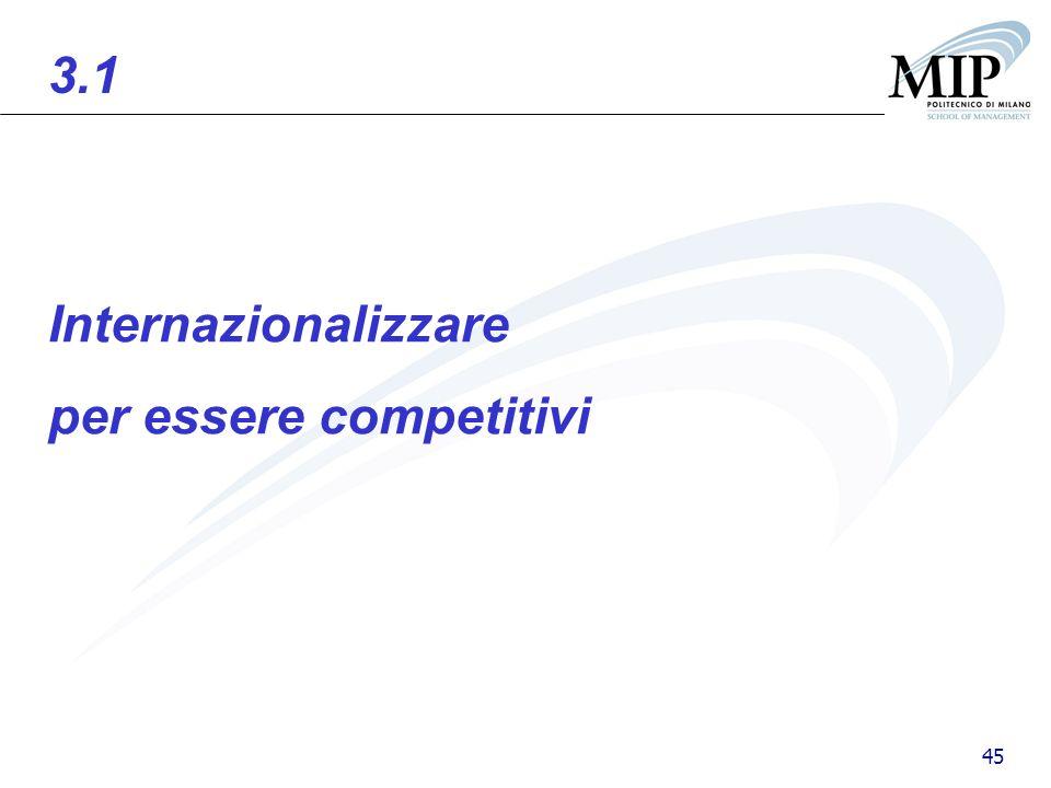 45 Internazionalizzare per essere competitivi 3.1