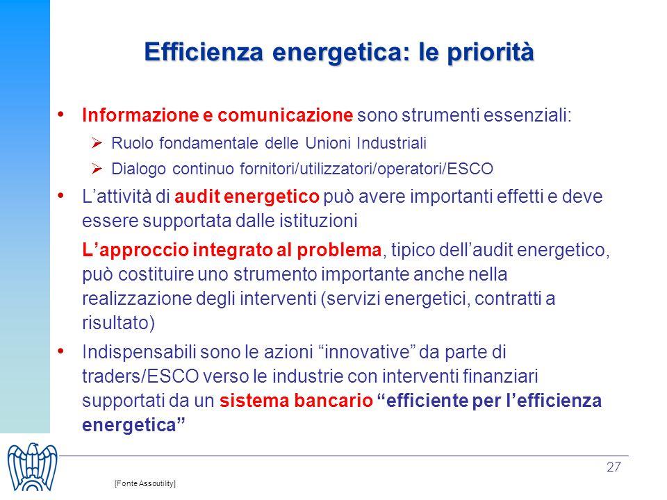 27 Informazione e comunicazione sono strumenti essenziali: Ruolo fondamentale delle Unioni Industriali Dialogo continuo fornitori/utilizzatori/operato