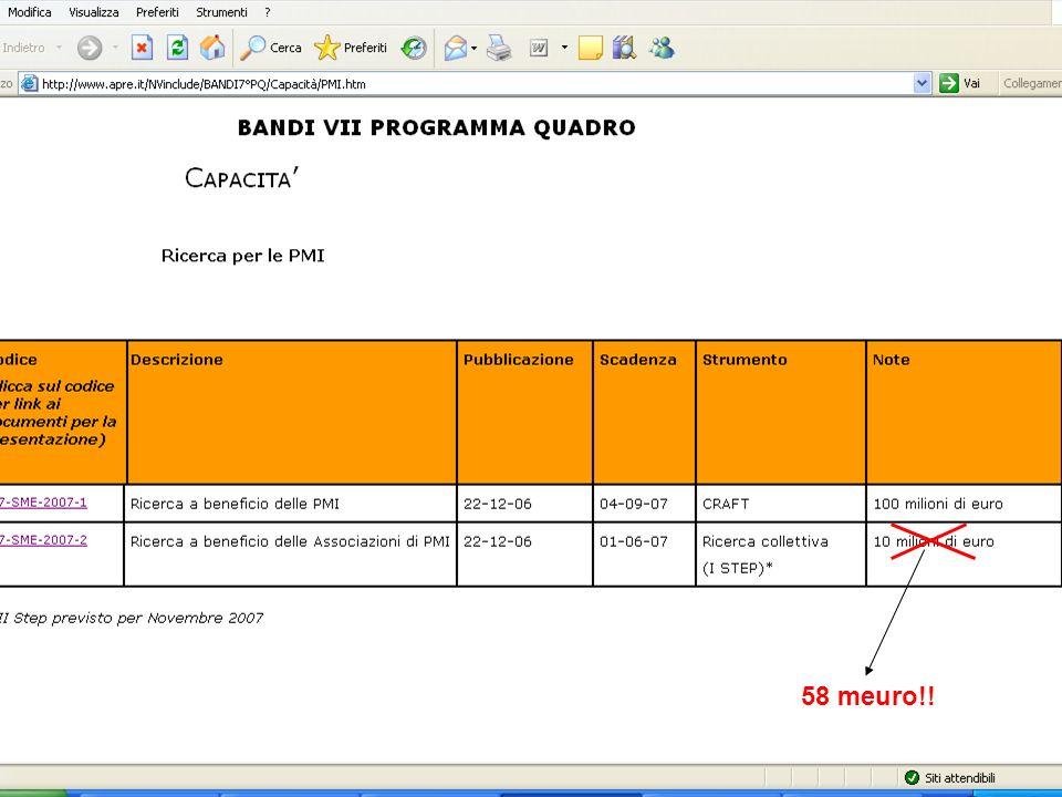 Enna, 21 settembre 2007 BANDI APERTI: 58 meuro!!