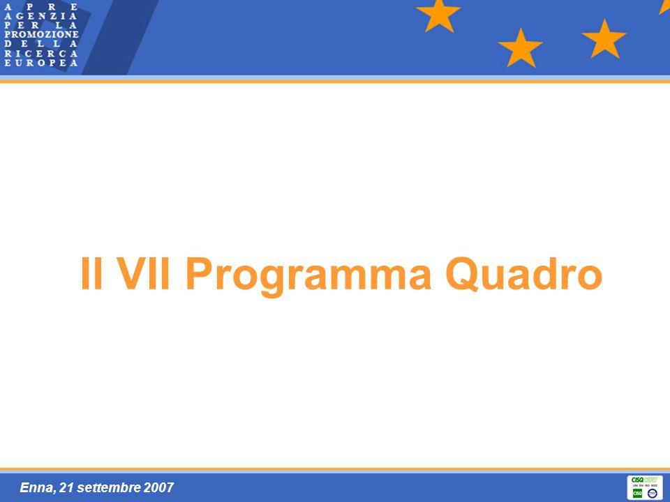 Enna, 21 settembre 2007 Il VII Programma Quadro