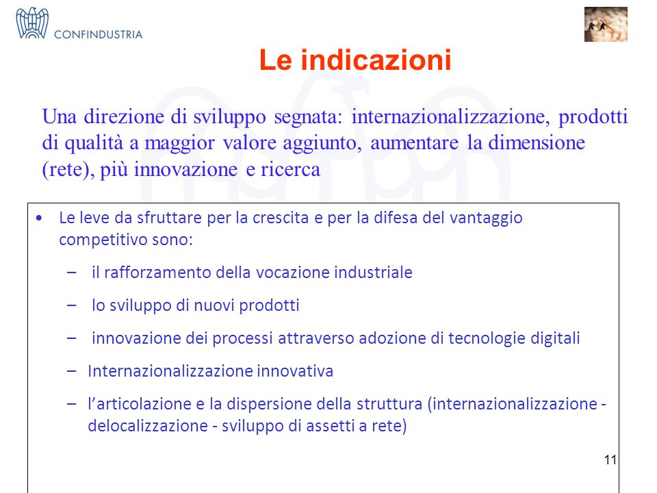 IMPRESE X INNOVAZIONE = I 3 Nucleo Ricerca ed Innovazione Le leve da sfruttare per la crescita e per la difesa del vantaggio competitivo sono: – il rafforzamento della vocazione industriale – lo sviluppo di nuovi prodotti – innovazione dei processi attraverso adozione di tecnologie digitali –Internazionalizzazione innovativa –larticolazione e la dispersione della struttura (internazionalizzazione - delocalizzazione - sviluppo di assetti a rete) 11 Come vincere.