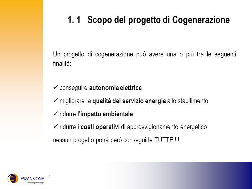 25 giugno 2002 1. 1 Scopo del progetto di Cogenerazione Un progetto di cogenerazione può avere una o più tra le seguenti finalità: conseguire autonomi