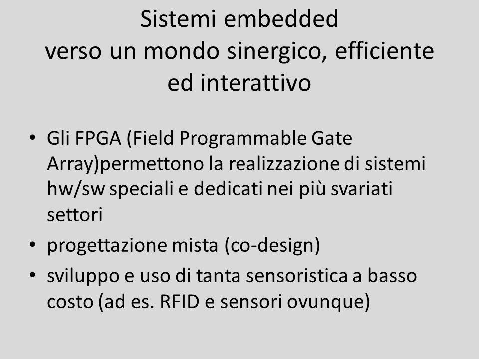 Sistemi embedded verso un mondo sinergico, efficiente ed interattivo Gli FPGA (Field Programmable Gate Array)permettono la realizzazione di sistemi hw