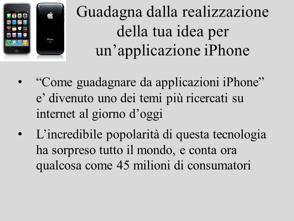 Guadagna dalla realizzazione della tua idea per unapplicazione iPhone Come guadagnare da applicazioni iPhone e divenuto uno dei temi più ricercati su