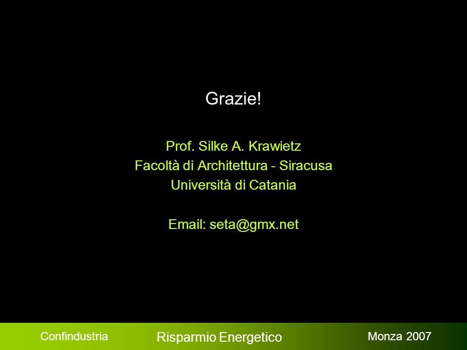 Confindustria Risparmio Energetico Monza 2007 Grazie.