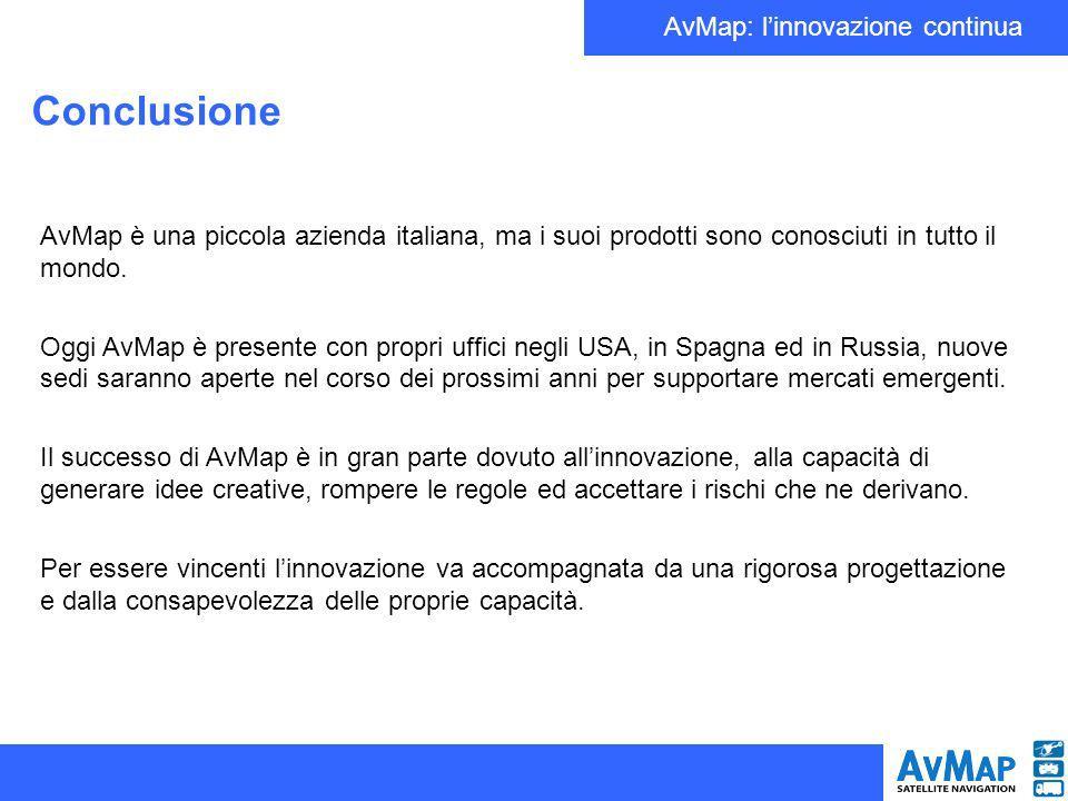 AvMap: linnovazione continua AvMap è una piccola azienda italiana, ma i suoi prodotti sono conosciuti in tutto il mondo. Oggi AvMap è presente con pro