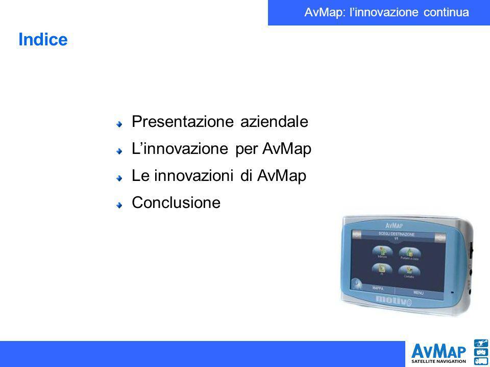 AvMap: linnovazione continua Presentazione aziendale AvMap s.r.l.