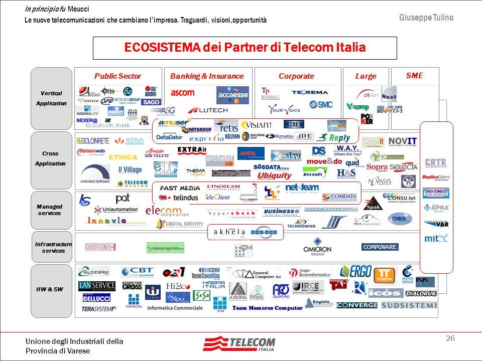 26 In principio fu Meucci Le nuove telecomunicazioni che cambiano limpresa. Traguardi, visioni,opportunità Giuseppe Tulino Unione degli Industriali de