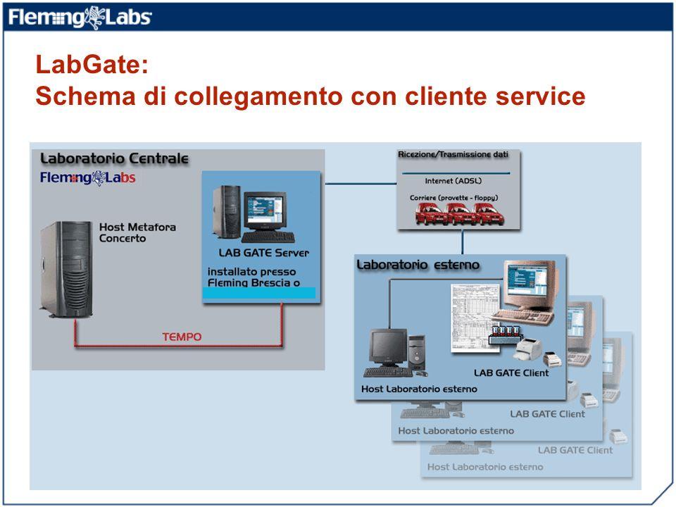 LabGate: Schema di collegamento con cliente service