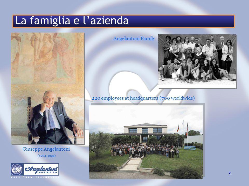 2www.angelantoni.it La famiglia e lazienda 220 employees at headquarters (700 worldwide) Angelantoni Family Giuseppe Angelantoni (1904-1994)