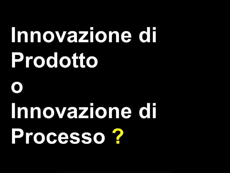 Innovazione di Prodotto o Innovazione di Processo ?