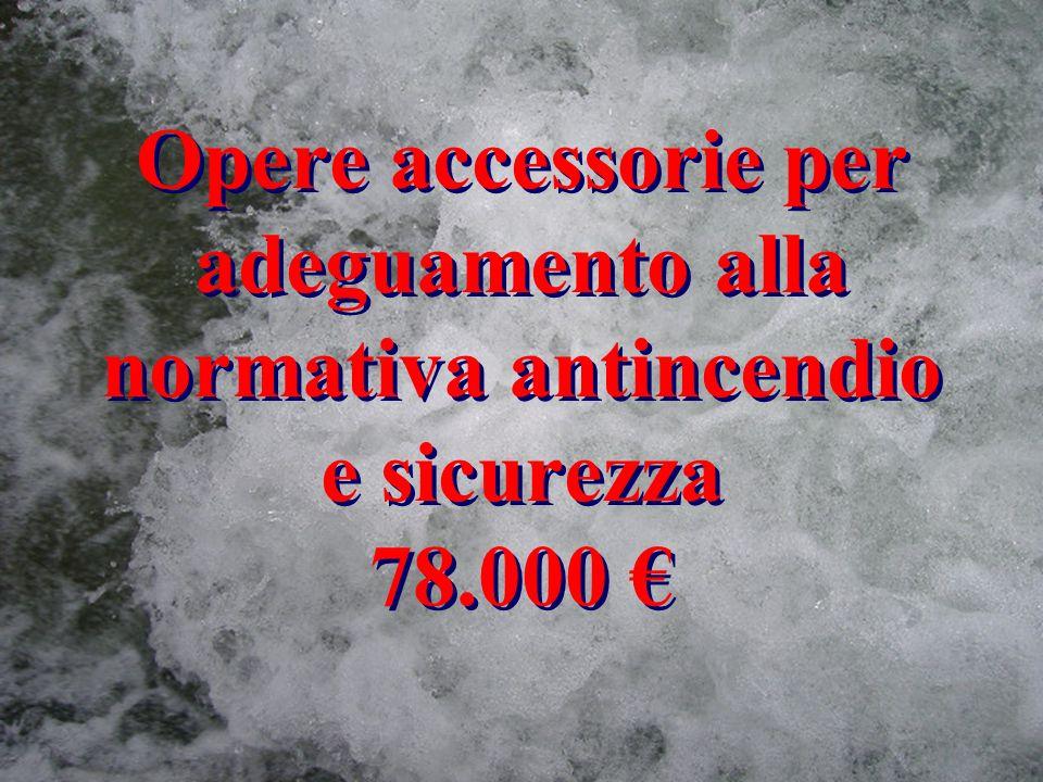 Opere accessorie per adeguamento alla normativa antincendio e sicurezza 78.000