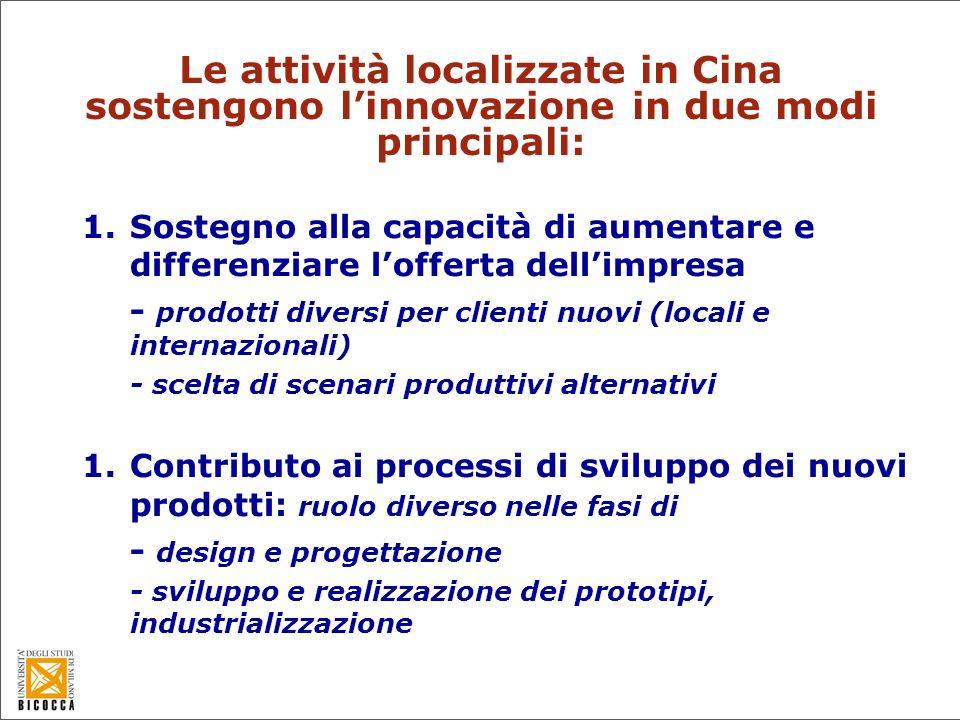 Differenziazione dellofferta -Ricorso a fornitori in Europa e Asia per prodotti con caratteristiche diverse (per gruppi diversi di consumatori).