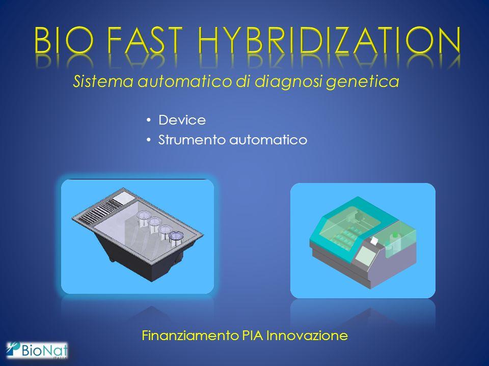 Sistema automatico di diagnosi genetica Device Strumento automatico Finanziamento PIA Innovazione