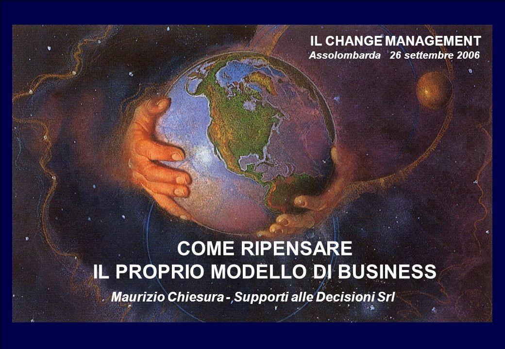 COME RIPENSARE IL PROPRIO MODELLO DI BUSINESS IL CHANGE MANAGEMENT Assolombarda 26 settembre 2006 Maurizio Chiesura - Supporti alle Decisioni Srl