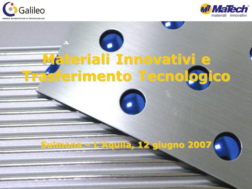 Materiali Innovativi e Trasferimento Tecnologico Sulmona – LAquila, 12 giugno 2007