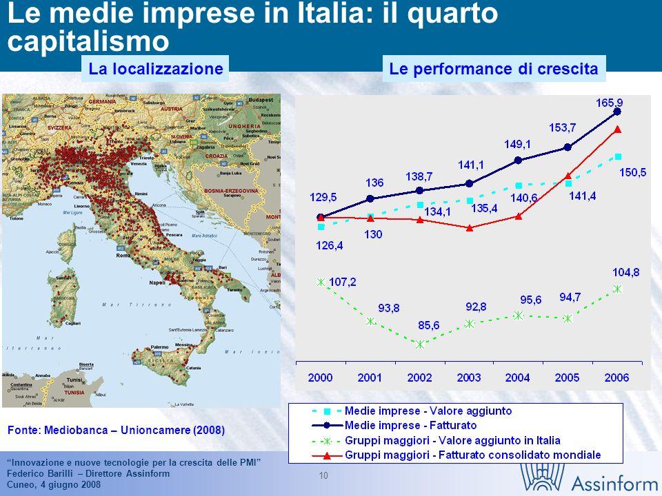 Innovazione e nuove tecnologie per la crescita delle PMI Federico Barilli – Direttore Assinform Cuneo, 4 giugno 2008 9 Il mercato italiano dellICT nel