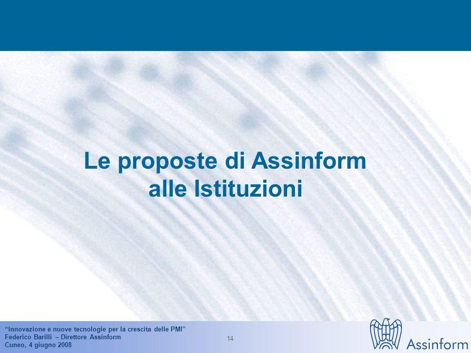 Innovazione e nuove tecnologie per la crescita delle PMI Federico Barilli – Direttore Assinform Cuneo, 4 giugno 2008 13 Intranet, Extranet e vendite o