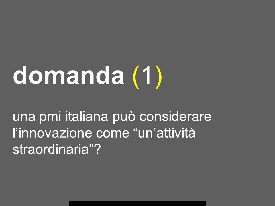 domanda (1) una pmi italiana può considerare linnovazione come unattività straordinaria