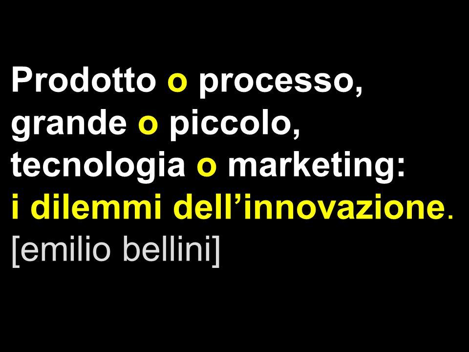 Prodotto o processo, grande o piccolo, tecnologia o marketing: i dilemmi dellinnovazione. [emilio bellini]