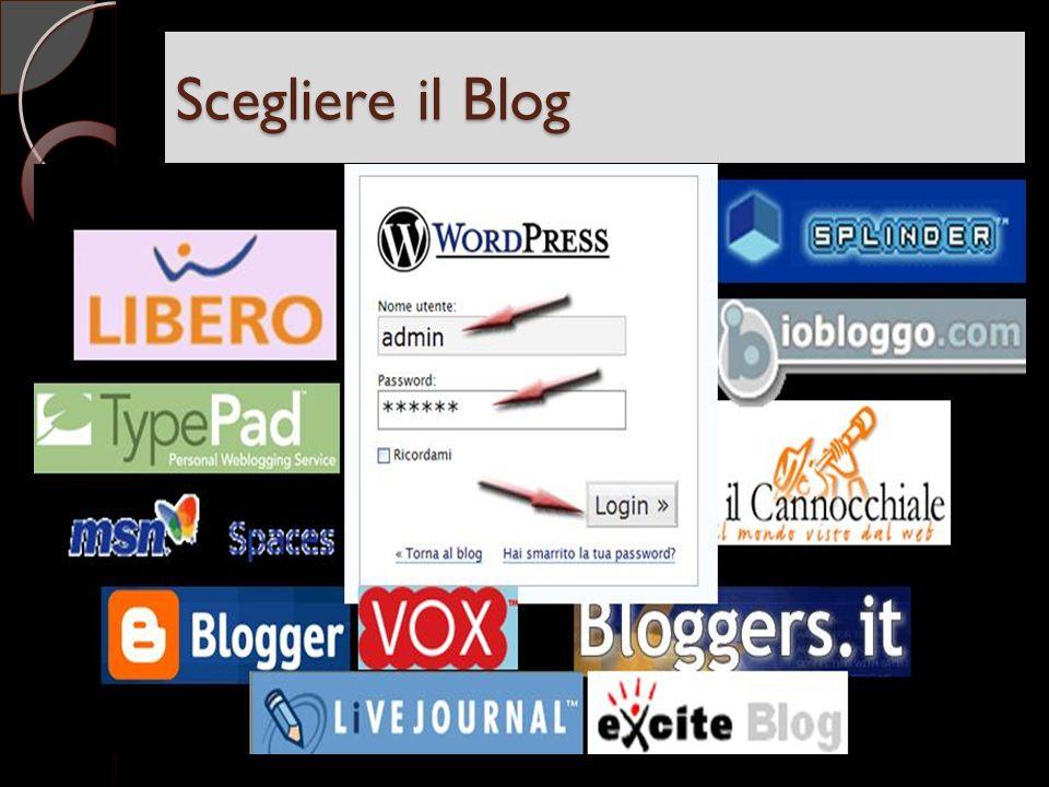 Scegliere il Blog