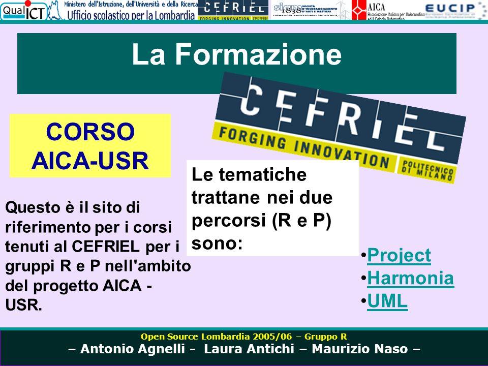 Open Source Lombardia 2005/06 – Gruppo R – Antonio Agnelli - Laura Antichi – Maurizio Naso – Project http://aica-usr.cefriel.it/Corso-Project
