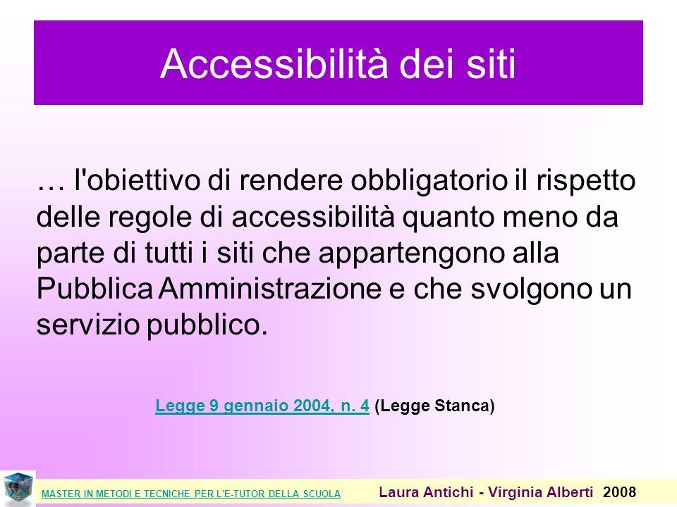 MASTER IN METODI E TECNICHE PER L E-TUTOR DELLA SCUOLAMASTER IN METODI E TECNICHE PER L E-TUTOR DELLA SCUOLA Laura Antichi - Virginia Alberti 2008 Sito preso in esame http://www.scuolaeservizi.it/ Strumenti di validazione usati http://validator.w3.org/ http://jigsaw.w3.org/css-validator/ http://www.webxtutti.it/testa.htm Cosa si valida?La Home + pagina interna