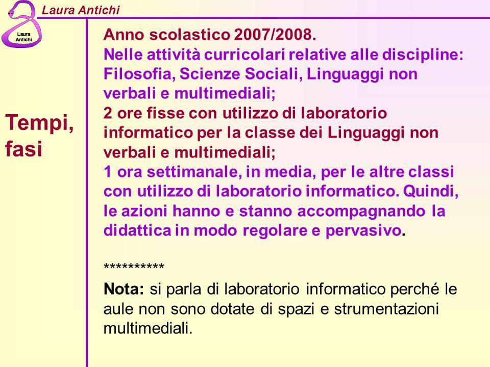 Tempi, fasi Anno scolastico 2007/2008.
