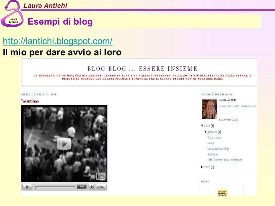 Laura Antichi Esempi di blog http://lantichi.blogspot.com/ Il mio per dare avvio ai loro