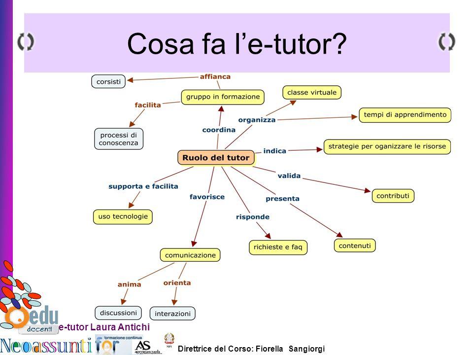 Direttrice del Corso: Fiorella Sangiorgi e-tutor Laura Antichi Cosa fa le-tutor?