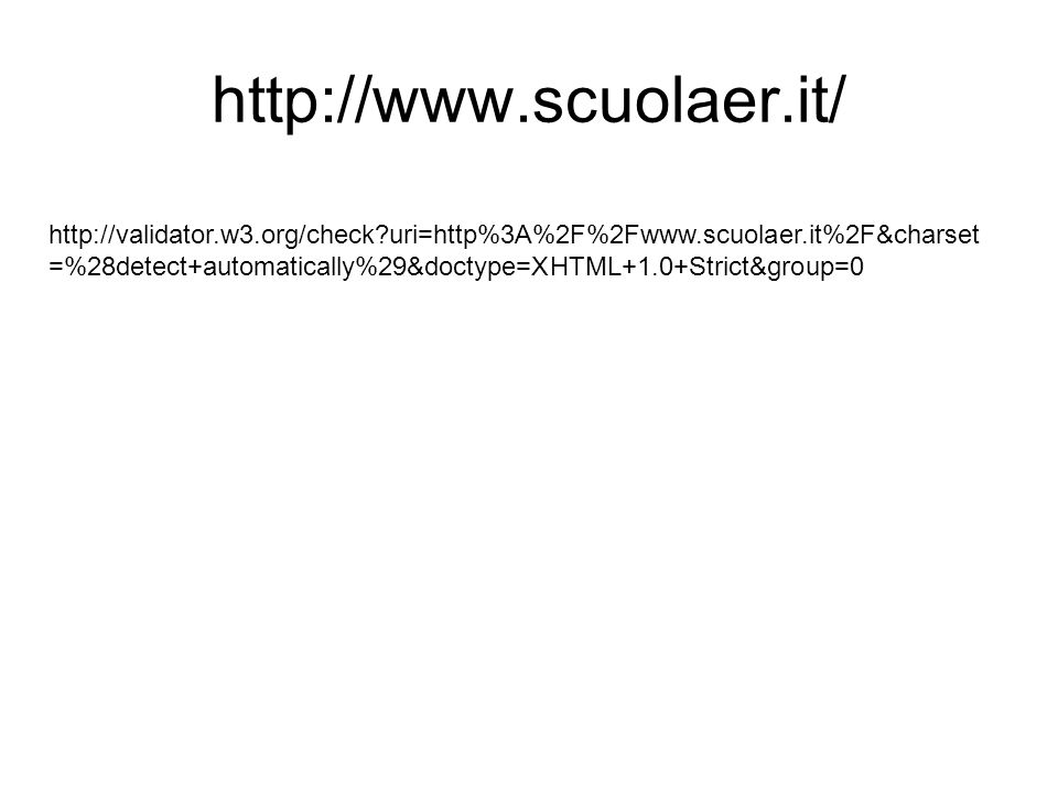 uri=http%3A%2F%2Fwww.scuolaer.it%2F&charset =%28detect+automatically%29&doctype=XHTML+1.0+Strict&group=0