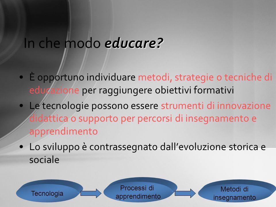 Tecnologia delleducazione: verso una definizione La mappa degli approcci disciplinari
