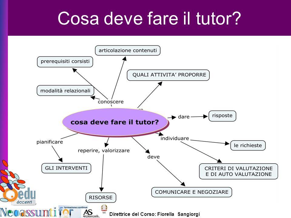 Direttrice del Corso: Fiorella Sangiorgi e-tutor Laura Antichi Cosa deve fare il tutor?