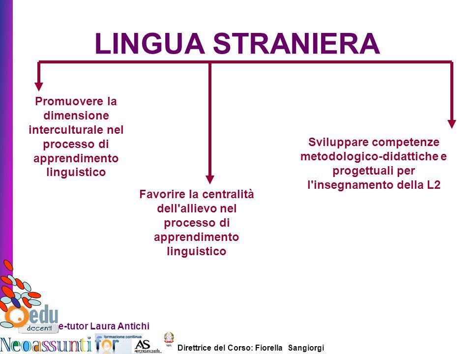 Direttrice del Corso: Fiorella Sangiorgi e-tutor Laura Antichi LINGUA STRANIERA Promuovere la dimensione interculturale nel processo di apprendimento