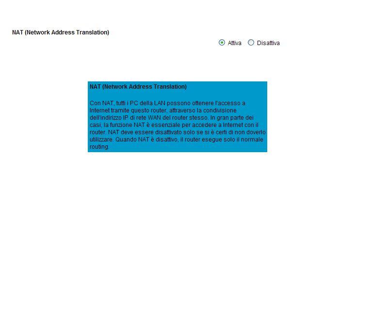 Nel campo delle reti telematiche, il network address translation o NAT, ovvero traduzione degli indirizzi di rete, è una tecnica che consiste nel modificare gli indirizzi IP dei pacchetti in transito su un sistema.reti telematicheindirizzi IP pacchetti Il NAT è spesso implementato dai router e dai firewall.routerfirewall Si può distinguere tra source NAT (SNAT) e destination NAT (DNAT), a seconda che vengano modificato l indirizzo sorgente o l indirizzo destinazione del pacchetto che inizia una nuova connessione.