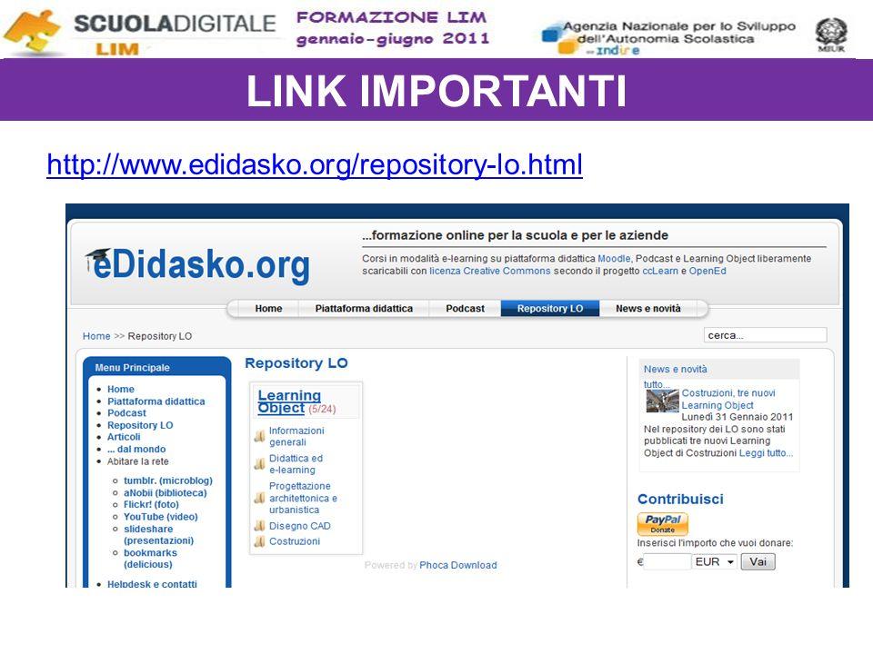 LINK IMPORTANTI http://www.edidasko.org/repository-lo.html
