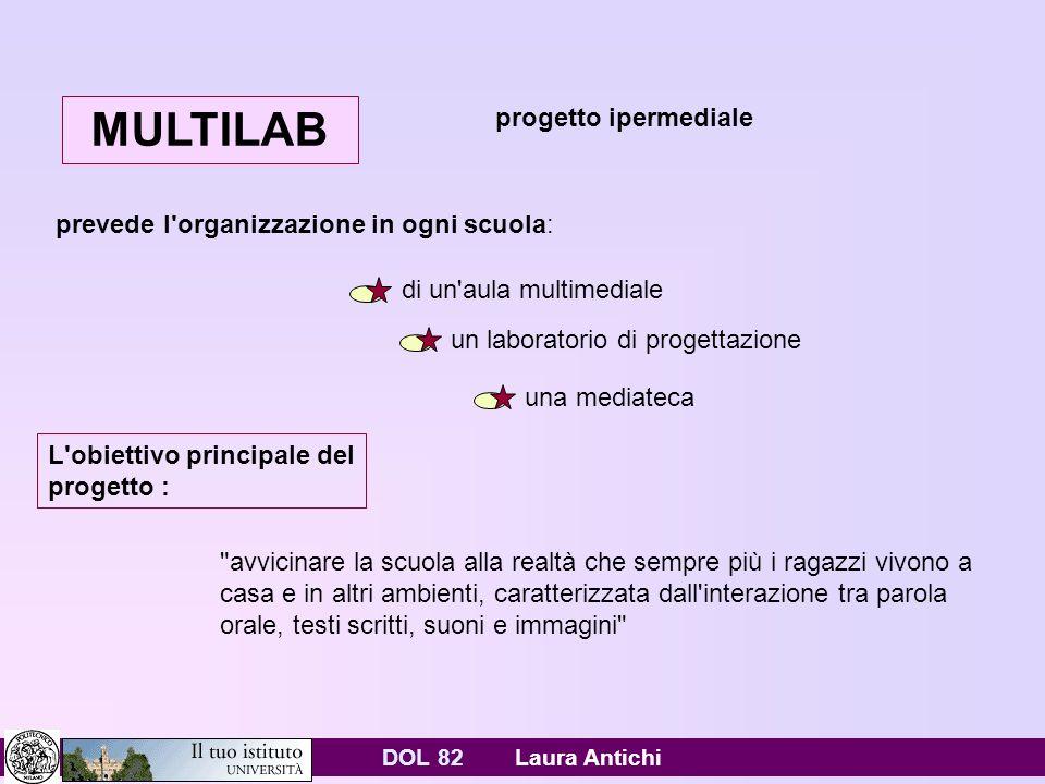 DOL 82 Laura Antichi Opinioni sparse http://www.europamica.it/Database/europamica/europamica.nsf /pagine/4BA92875C54F5FCFC1256AE60037C481?OpenDocume nt INTERNET: UE; 90% SCUOLE COLLEGATE AL WEB, ITALIA IN RITARDOhttp://www.europamica.it/Database/europamica/europamica.nsf /pagine/4BA92875C54F5FCFC1256AE60037C481?OpenDocume nt http://news.tecnozoom.it/computer/litalia-e-internet-nel- rapporto-istat-2006-post-181.html Nonostante la vitalità che ha caratterizzato questo anno la rete, il proliferare di siti e di blog, luso sempre più massiccio di Internet e la scelta di molti di installare in casa lAdsl, siamo al quindicesimo posto per lutilizzo di Internet in Europa.http://news.tecnozoom.it/computer/litalia-e-internet-nel- rapporto-istat-2006-post-181.htmlAdsl