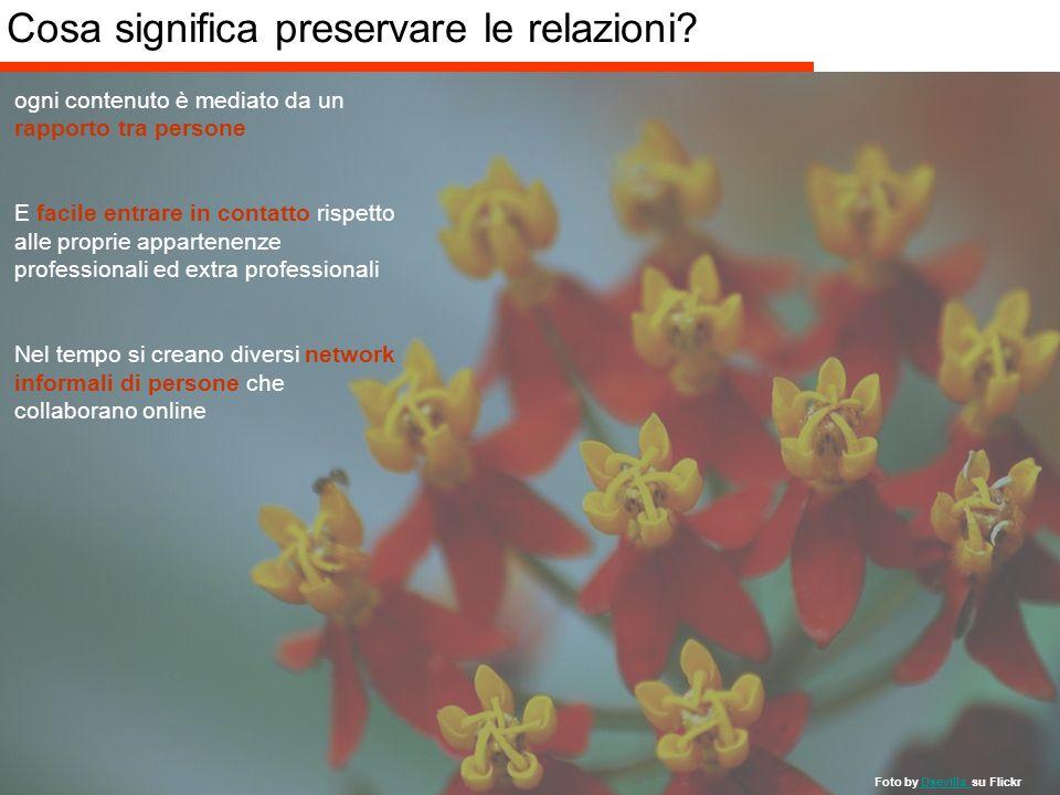 Giacomo Mason/Marco Lotito – Febbraio 2007 -18/40 - KM 2.0 Cosa significa preservare le relazioni? ogni contenuto è mediato da un rapporto tra persone