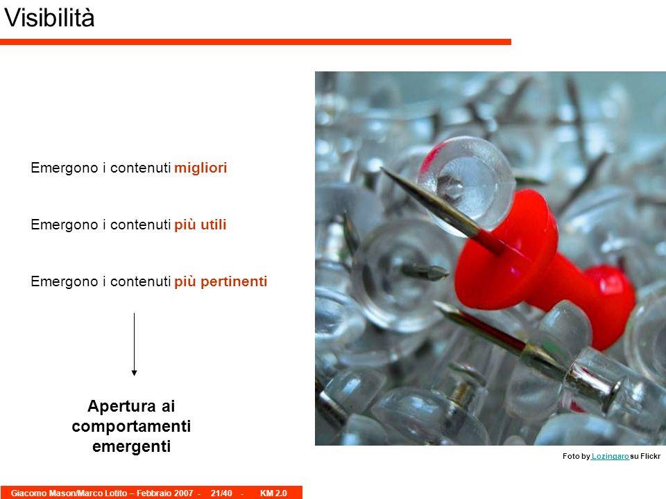 Giacomo Mason/Marco Lotito – Febbraio 2007 -21/40 - KM 2.0 Visibilità Foto by Lozingaro su Flickr Lozingaro Emergono i contenuti migliori Emergono i c