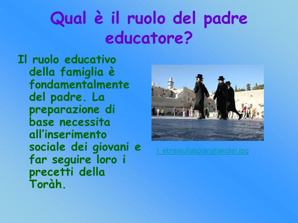 Qual è il ruolo del padre educatore.